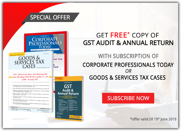 Special offerGST Audit book free with journal subscription