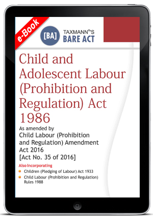 Child and Adolescent Labour (Prohibition and Regulation) Act 1986 (e-book)