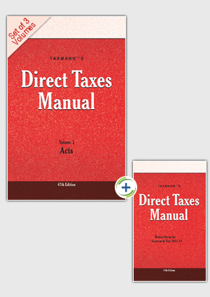 Direct Taxes Manual (Set of 3 Volumes) & New Return Forms