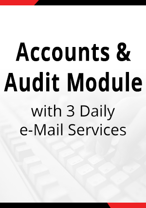 Accounts and Audit Module with All About AS, Ind As, CARO with 3 Daily e-Mail Services