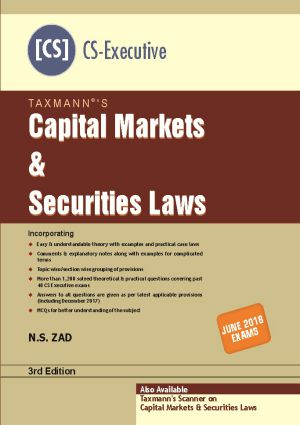 Capital Markets & Securities Laws by N.S Zad