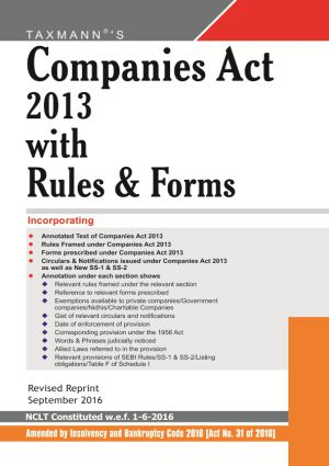 Companies Act 2013 with Rules & Forms (Paperback Edition)