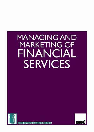 Managing and Marketing of Financial Services