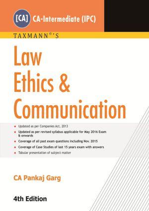 Law Ethics & Communication by CA Pankaj Garg