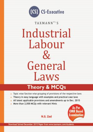 Industrial Labour & General Laws by N.S Zad