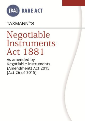 Negotiable Instruments Act 1881 (e-book)