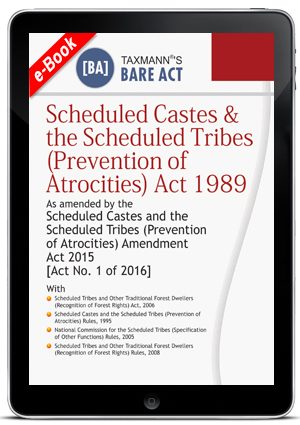 Scheduled Castes & the Scheduled Tribes (Prevention of Atrocities) Act 1989 (ebook)
