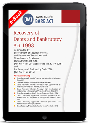 Recovery of Debts and Bankruptcy Act 1993 (ebook)