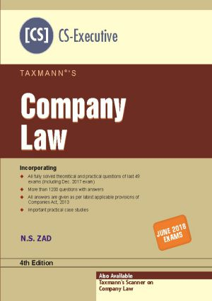 Company Law by N.S Zad (CS-Executive)