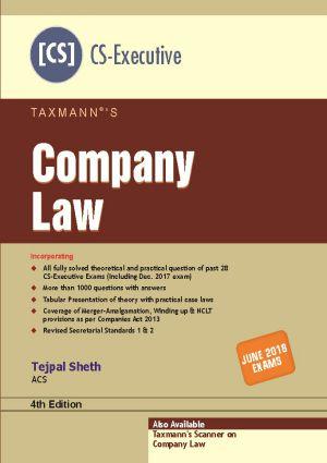 Company Law by Tejpal Sheth (CS-Executive)
