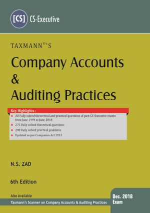 Company Accounts & Auditing Practices by N.S Zad