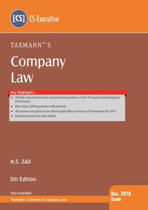 Company Law by N.S Zad (CS-Executive)