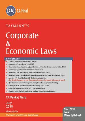 Corporate & Economic Laws by Pankaj Garg