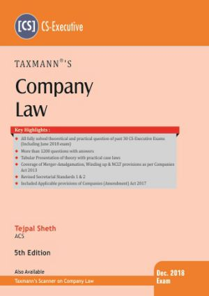 Company Law by Tejpal Sheth (CS-Executive)