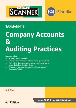 Scanner - Company Accounts & Auditing Practices by N.S Zad (Old Syllabus)(e-book)