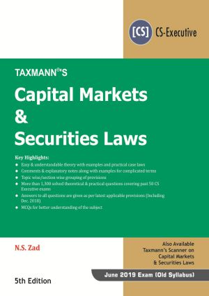 Capital Markets & Securities Laws by N.S Zad (e-book)