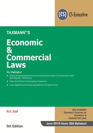 Economic & Commercial Laws by N.S Zad (CS-Executive)