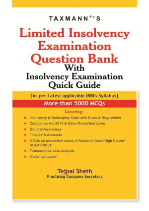 Limited Insolvency Examination Question Bank With Insolvency Examination Quick Guide