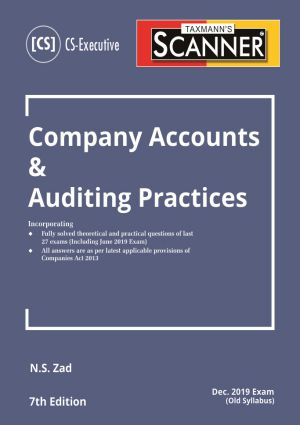 Scanner - Company Accounts & Auditing Practices by N.S Zad