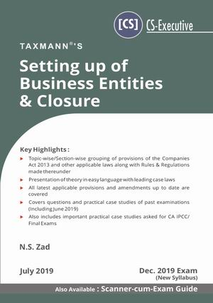 Setting up of Business Entities & Closure- New Syllabus