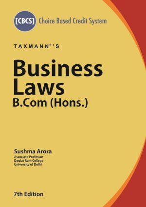 Business Laws - B.Com (Hons.)