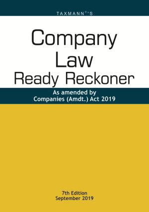Company Law Ready Reckoner