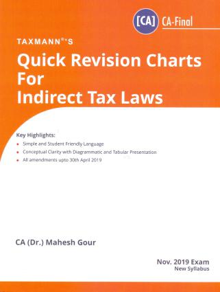 Quick Revision Charts For Indirect Tax Laws