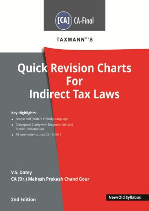 Quick Revision Charts For Indirect Tax Laws - New/Old Syllabus (e-book)