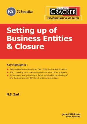 Cracker - Setting up of Business Entities & Closure (CS-Executive) New Syllabus