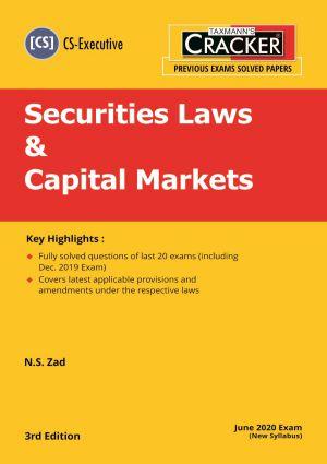 Cracker - Securities Laws & Capital Markets (CS-Executive) New Syllabus (e-book)