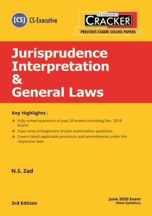 Cracker - Jurisprudence Interpretation & General Laws (CS-Executive) New Syllabus