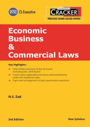 Cracker - Economic Business & Commercial Laws - (CS-Executive) New Syllabus (e-book)