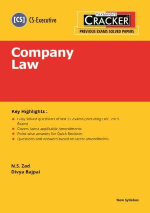 Cracker - Company Law (CS-Executive) New Syllabus