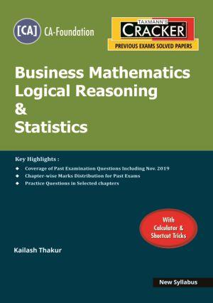 Cracker - Business Mathematics Logical Reasoning & Statistics (CA-Foundation) New syllabus (e-book)