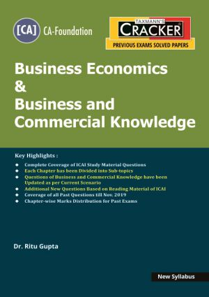 Cracker - Business Economics & Business and Commercial Knowledge (CA-Foundation) New Syllabus (e-book)