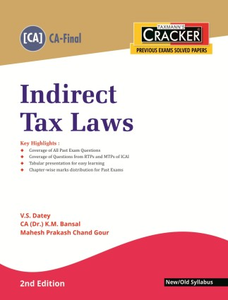 Cracker - Indirect Tax Laws (CA-Final) New/Old Syllabus