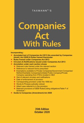 Companies Act with Rules | Hardbound Pocket Edition