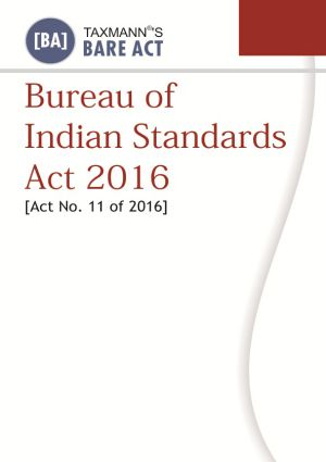 Bureau of Indian Standards Act 2016