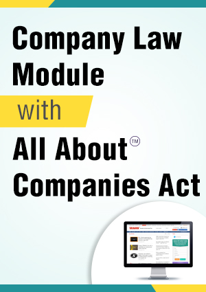 Taxmann.com (Company Law Module with All About Companies Act) with 3 Daily e-Mail Services