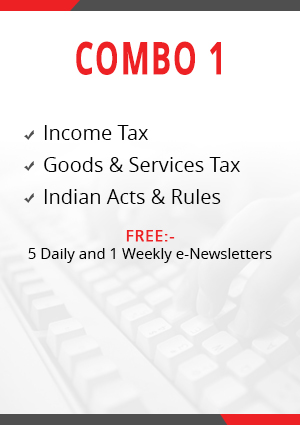 Combo 1 - Income Tax, Goods & Services Tax and Indian Acts & Rules Module