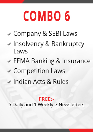 Combo 6 - Company & SEBI Laws, Insolvency & Bankruptcy, Indian Acts & Rules, FEMA Banking & NBFC and Competition Laws Module