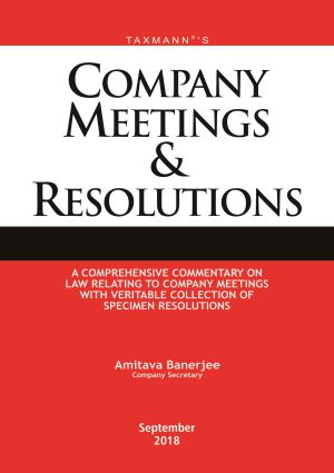 Company Meetings & Resolutions