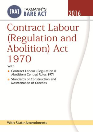 Contract Labour (Regulation and Abolition) Act 1970 (e-book)