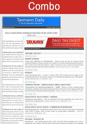 Daily Tax & Corporate Laws Digest & Taxmann Daily