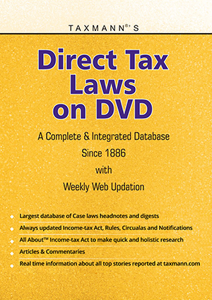 Direct Tax Laws on DVD - A Complete Database on Direct Tax Laws Since 1886