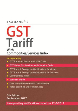 GST Tariff with Commodities/Services Index