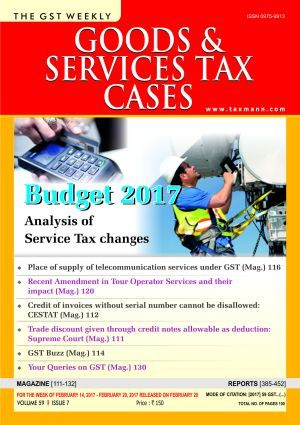 Goods & Service Tax Cases with 2 Daily e-Mail Alerts
