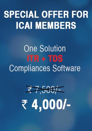 TDS Module + ITR Module (2018-19) - ICAI Members