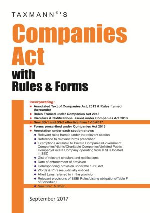 Companies Act with Rules & Forms (Paperback Edition)