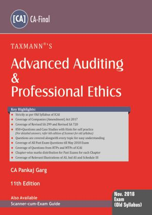 Advanced Auditing & Professional Ethics (CA-Final) by Pankaj Garg (Old Syllabus)
